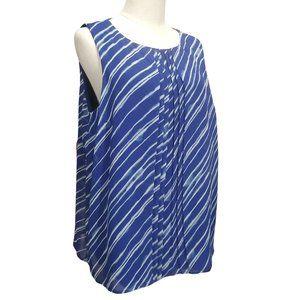 Apt. 9 Blue & White Striped Top NWT